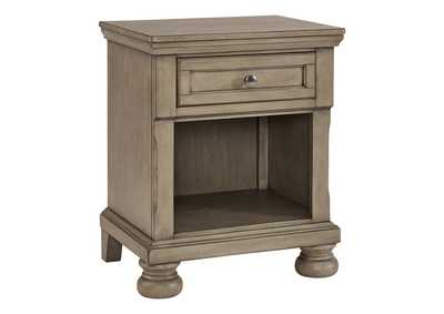 Lettner Light Gray Nightstand