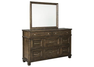 Darloni Grayish Brown Dresser w/Mirror