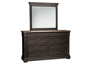 Tyler Creek Black/Gray Bedroom Mirror