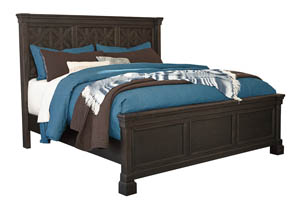 Tyler Creek Black/Gray King Panel Bed