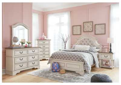 Realyn Chipped White Full Panel Bed w/Dresser & Mirror,Signature Design By Ashley