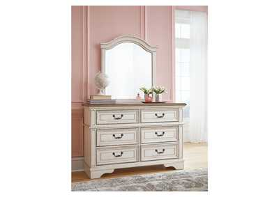 Realyn Chipped White Youth Dresser w/Mirror,Signature Design By Ashley