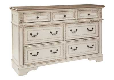 Realyn White/Brown Two-Tone Dresser