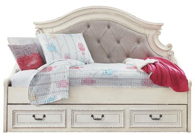 Realyn Chipped White Twin Daybed w/Storage,Signature Design By Ashley
