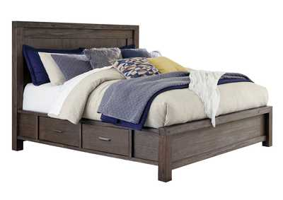 Dellbeck Dark Brown Storage Queen Bed