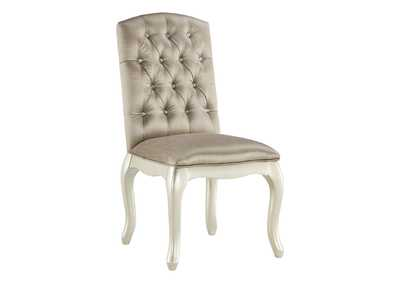 Cassimore Pearl Silver Upholstered Chair
