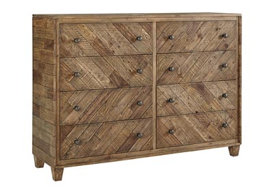Grindleburg Light Brown Dresser