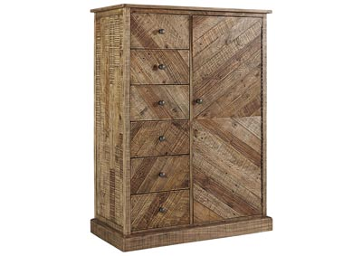Grindleburg Light Brown Door Chest