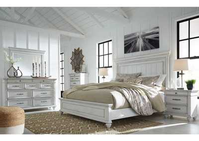 Image for Kanwyn Whitewash California King Bed w/Dresser and Mirror