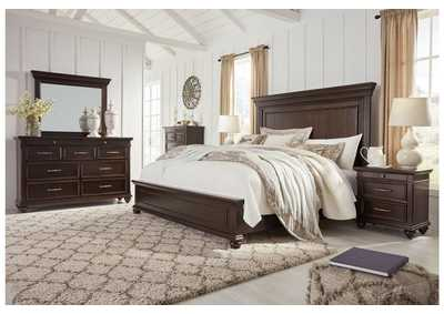 Image for Brynhurst Brown King Panel Bed Dresser w/Mirror