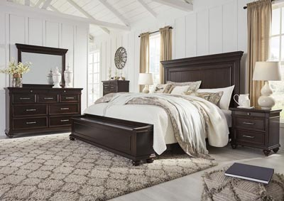 Brynhurst Brown California King Storage Bed Dresser w/Mirror