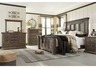 Image for Wyndahl Brown Queen Panel Bed w/Dresser and Mirror