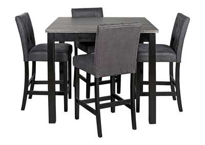 Image for Garvine Two-tone Counter Height Dining Room Table and Bar Stools (Set of 5)