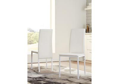 Sariden White Dining Room Side Chair (Set of 2),Signature Design By Ashley
