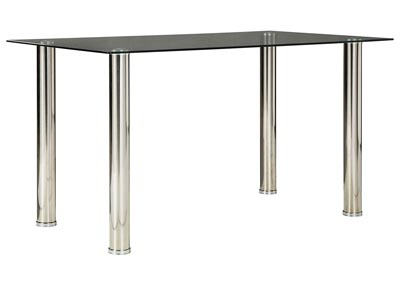 Image for Sariden Chrome Finish Rectangular Dining Room Table