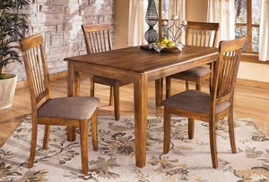 Berringer Rectangular Dining Room Table w/ 4 Chairs