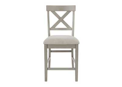 Image for Parellen Gray Bar Stool (Set of 2)