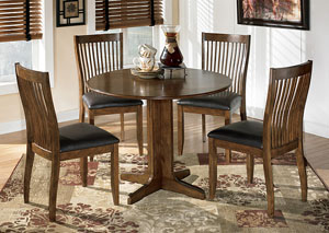 Stuman Round Drop Leaf Table & 4 Side Chairs