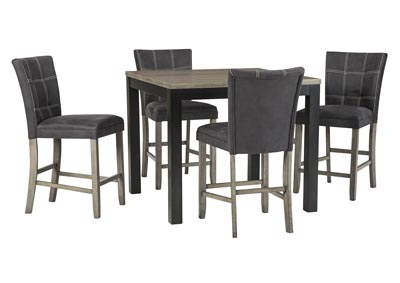 Image for Dontally Two-tone Counter Height Dining Room Table w/4 Bar Stool