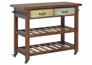Marlijo Brown Kitchen Cart