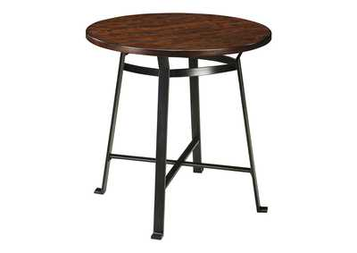 Image for Challiman Rustic Brown Round Dining Room Bar Table