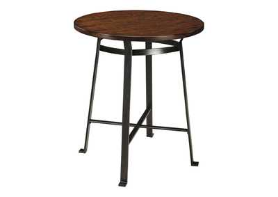 Image for Challiman Rustic Brown Round Counter Table
