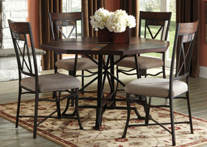 Vinasville Round Dining Table W/ 4 Side Chairs