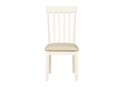 Slannery White Upholstered Side Chair (Set of 2)