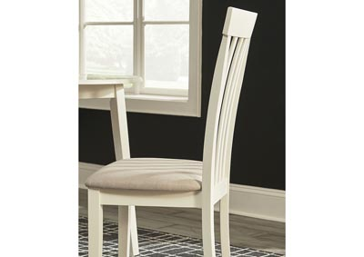 Slannery White Upholstered Side Chair (Set of 2),Signature Design By Ashley