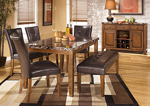 Image for Lacey Rectangular Dining Table w/ 4 Side Chairs & Bench