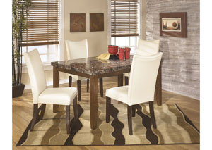 Lacey Rectangular Dining Table w/4 White Chairs