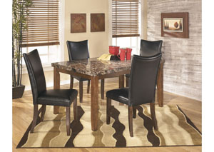 Lacey Rectangular Dining Table w/4 Black Chairs