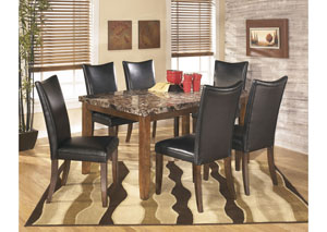 Lacey Rectangular Dining Table w/6 Black Chairs