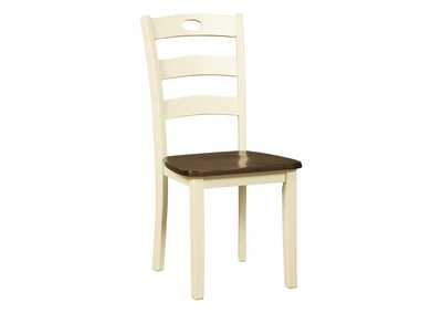 Image for Woodanville White/Brown Dining Room Side Chair (Set of 2)