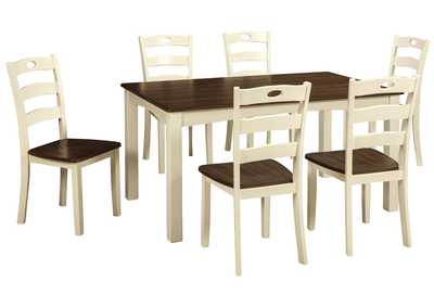 Image for Woodanville White/Brown Dining Room Table Set