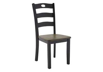 Image for Froshburg Grayish Brown/Black Dining Room Side Chair (Set of 2)