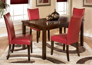 Beau Charrell Red Side Chairs (Set Of 2)