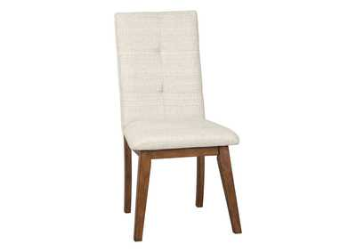 Image for Centiar Two-Tone Brown Dining Upholstered Side Chair (Set of 2)