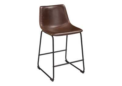 Image for Centiar Two-tone Brown Upholstered Barstool (Set of 2)
