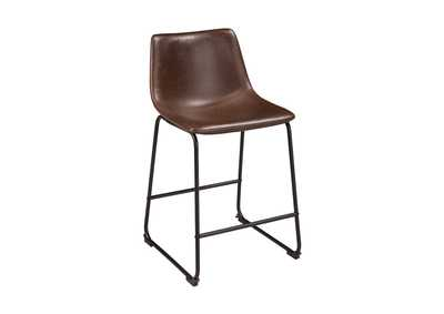 Centiar Two-tone Brown Upholstered Barstool (Set of 2)