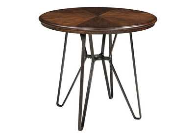 Image for Centiar Two-Tone Brown Round Dining Room Counter Table