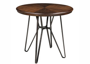 Centiar Two-Tone Brown Round Counter Height Table