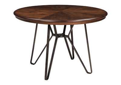 Image for Centiar Two-Tone Brown Round Dining Room Table