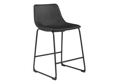 Centiar Black Bar Stool (Set of 2)