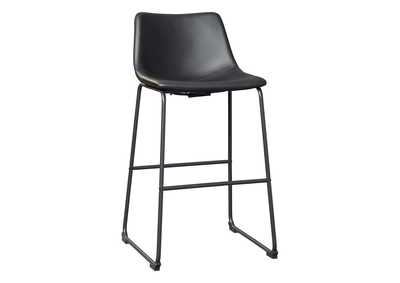 Image for Centiar Black Pub Height Bar Stool (Set of 2)