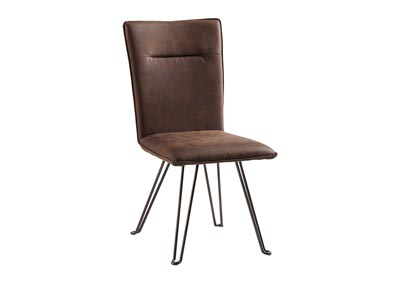 Moddano Brown/Black Dining Upholstered Side Chair (Set of 2)