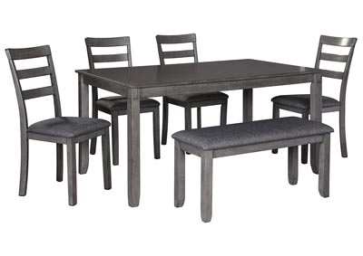 Bridson Gray Rectangle Table Set