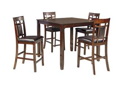 Bennox Brown Dining Room Counter Table Set