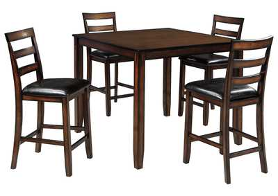 Image for Coviar Brown Dining Room Counter Table Set