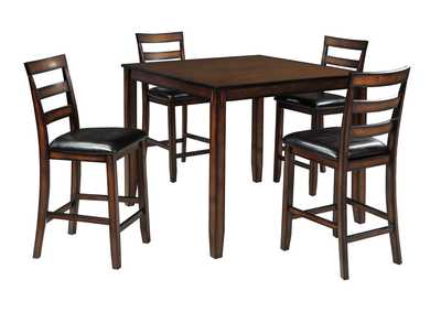 Coviar Brown Dining Room Counter Table Set